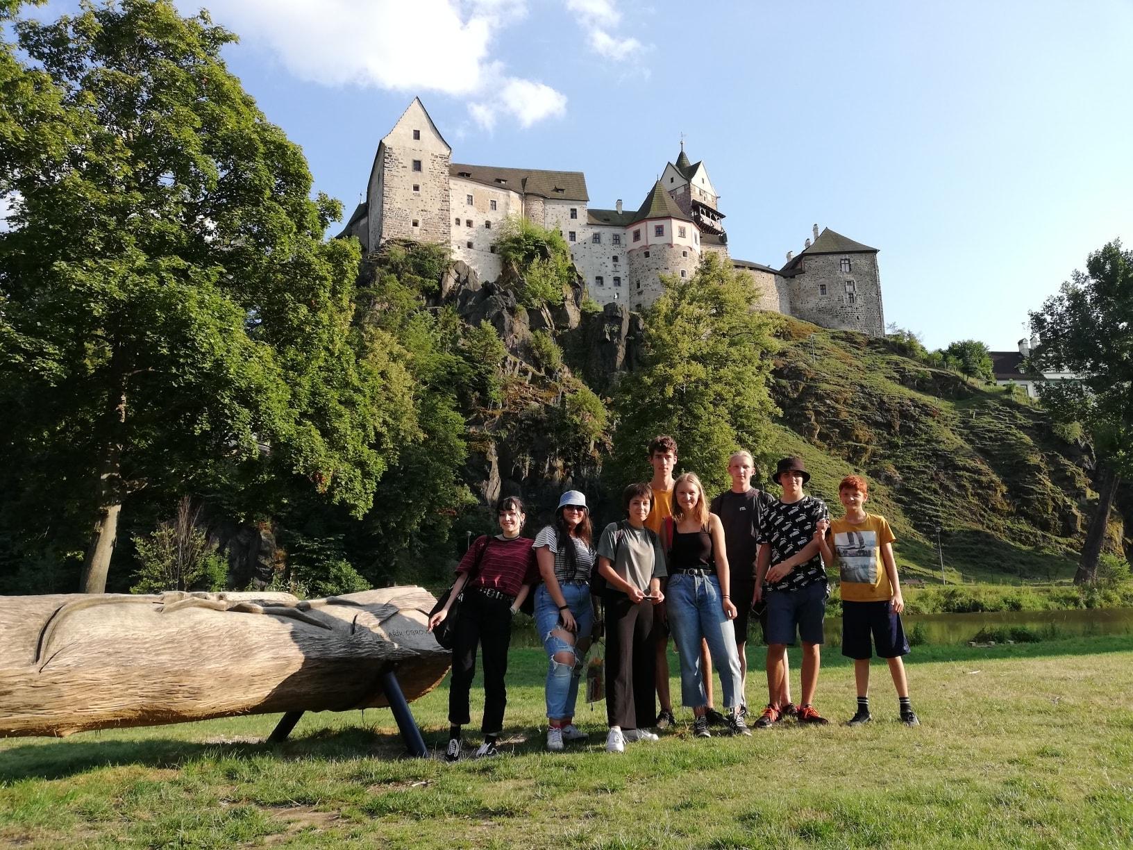 Teens at Hauenstejn Castle