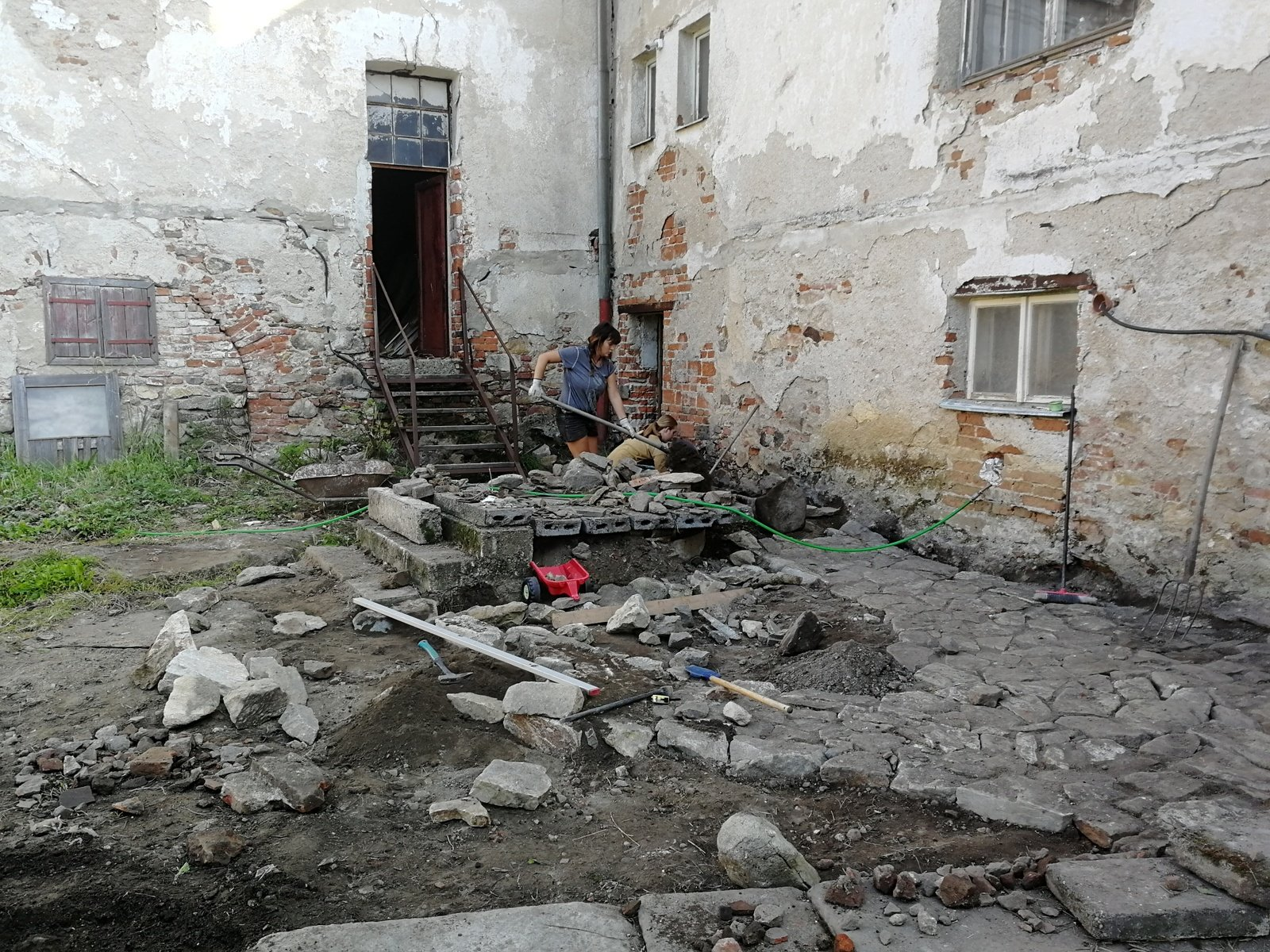Families Renovate a Historical Site II