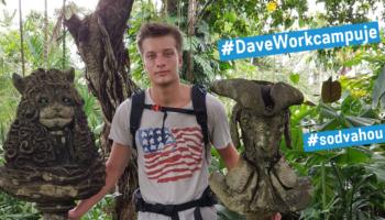 Dave svůj první workcamp prožije v Kadani, jako campleader